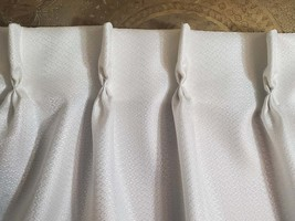 Elegant Vintage Curtain White Pinch Pleat Handmade Drapes - $98.00