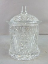Vintage Decorative Waterford Design Pressed Glass Biscuit Jar  - $79.20