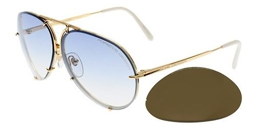 751d2258b16a Porsche Design Sunglasses 8478 White Gold W and 16 similar items
