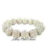 Silver Metal & Pave Set Crystal Bracelet with Swarovski Crystals - $39.99