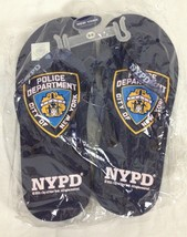 New York City Police Department Blue Sandals Flip Flops New With Tags Me... - $33.18 CAD