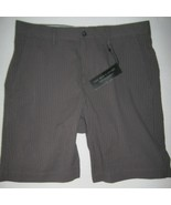 Mens Bloomingdales Seersucker Regular Fit Shorts Walking Bermuda Gray Si... - $24.26