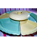 Mid Century William Frazier California Pottery Pastel 8pc Lazy Susan Ser... - $48.00