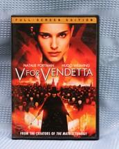 V for Vendetta DVD Hugo Weaving, Natalie Portman, Rupert Graves, Stephen... - $7.63