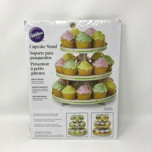"Wilton Cupcake 3 Tier Stand 12"" x 10.5"" Holds 24 Cupcakes Disposable  - $11.39"