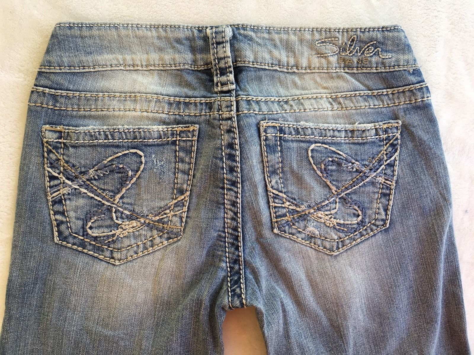 SILVER Jeans Sale Buckle Low Rise Tuesday Denim Jean Stretch Bermuda Shorts 25