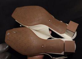 Franco Sarto Héritage Femmes Talons Chaussures en Cuir Beige Taille 6M image 9