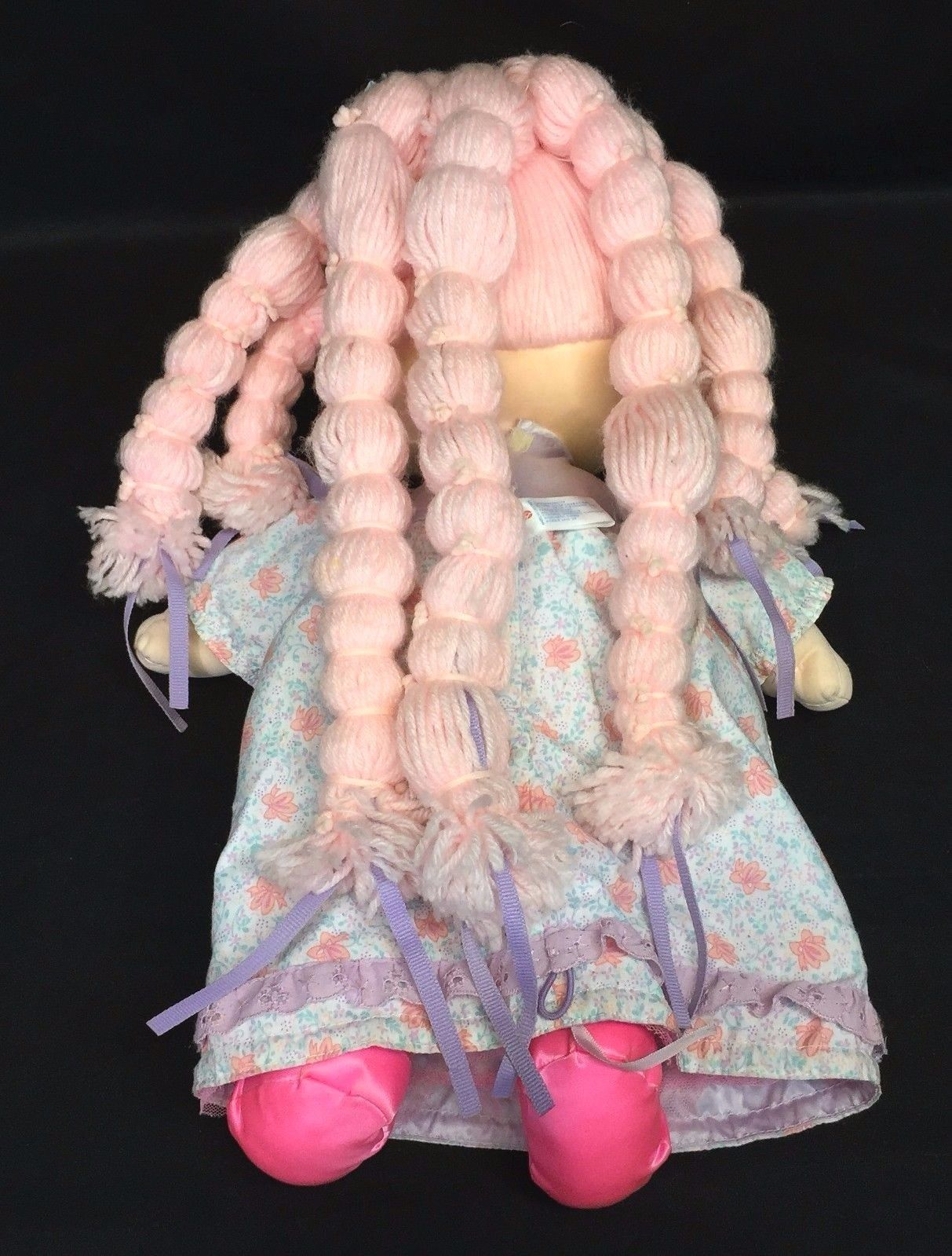 Amtoy tuggabows doll dress pink yarn hair and 50 similar items amtoy tuggabows doll dress pink yarn hair shoes vintage american greetings 1986 m4hsunfo