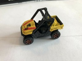Matchbox Yamaha Rhino All-Terrain Vehicle Yellow Side-By-Side ATV Fast S... - $8.71