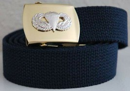 US Army AirBorne Paratrooper Khaki Belt & Buckle  New!!! - $17.81