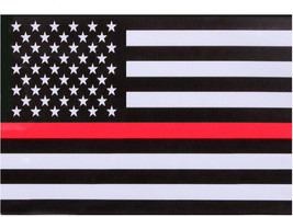 3 Pack Thin Red Line US American Flag Support Firefighters Decal Sticker... - $8.99