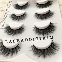 4 Pairs Top 3D 100% Mink Soft Long Thick Makeup Eye Lashes False Eyelash... - $9.95