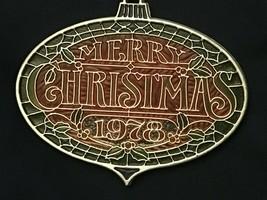 Vintage Hallmark Merry Christmas 1978 Christmas Ornament *Pre Owned* aa1 - $11.99