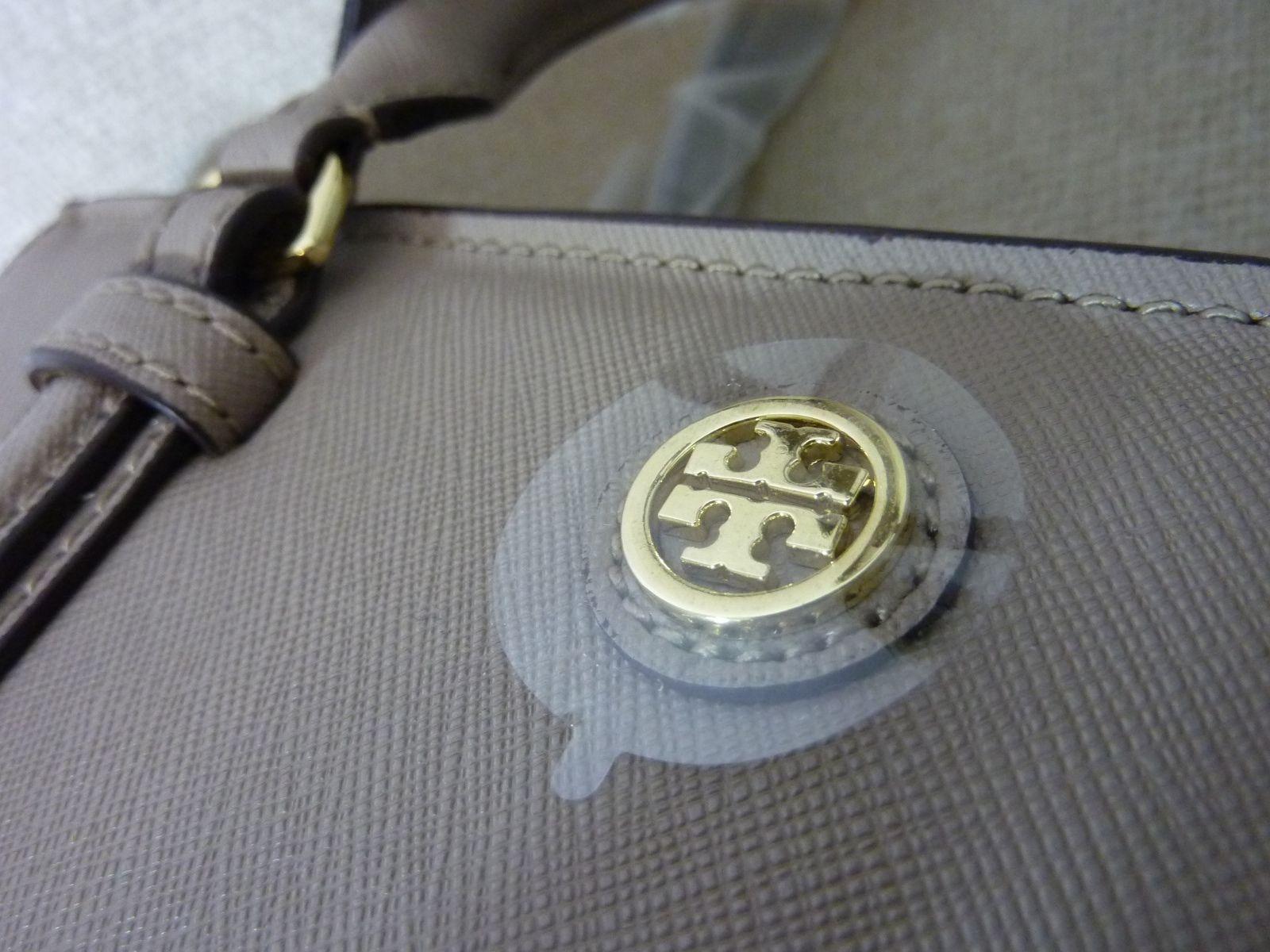 NWT Tory Burch French Gray Saffiano Leather Robinson Mini Square Tote image 7
