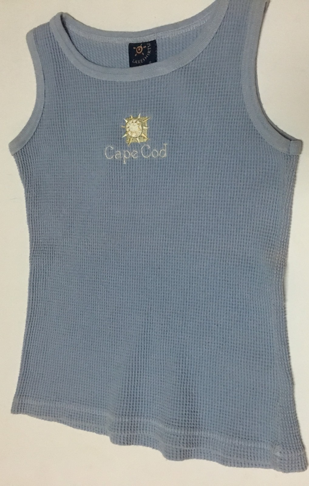 Lakeshirts Cape Cod Tank Top Youth Sz S Blue Made in USA