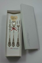 "Rose Point by Wallace Sterling Silver ""I Love You"" Serving Set 3pc Custom Made - $175.50"