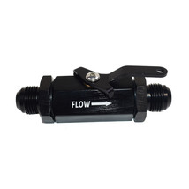 Aluminum Inline Fuel Shut Off Valve Cut Off with Cable Lever -10AN Male Fitting image 1