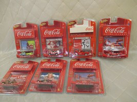Johnny Lightning Coca Cola Branded Cars Blazer Mustang Jeep CJ-5 Drive t... - $34.65