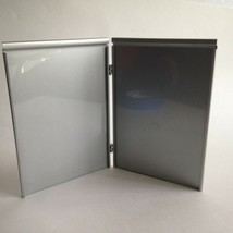 """Vintage Sleek Metal Picture Double Frame 5X7"""" Photo Glass Cover Silverto... - $13.61"""