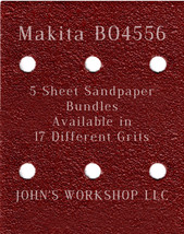 Makita BO4556 - 1/4 Sheet - 17 Grits - No-Slip - 5 Sandpaper Bulk Bundles - $7.14