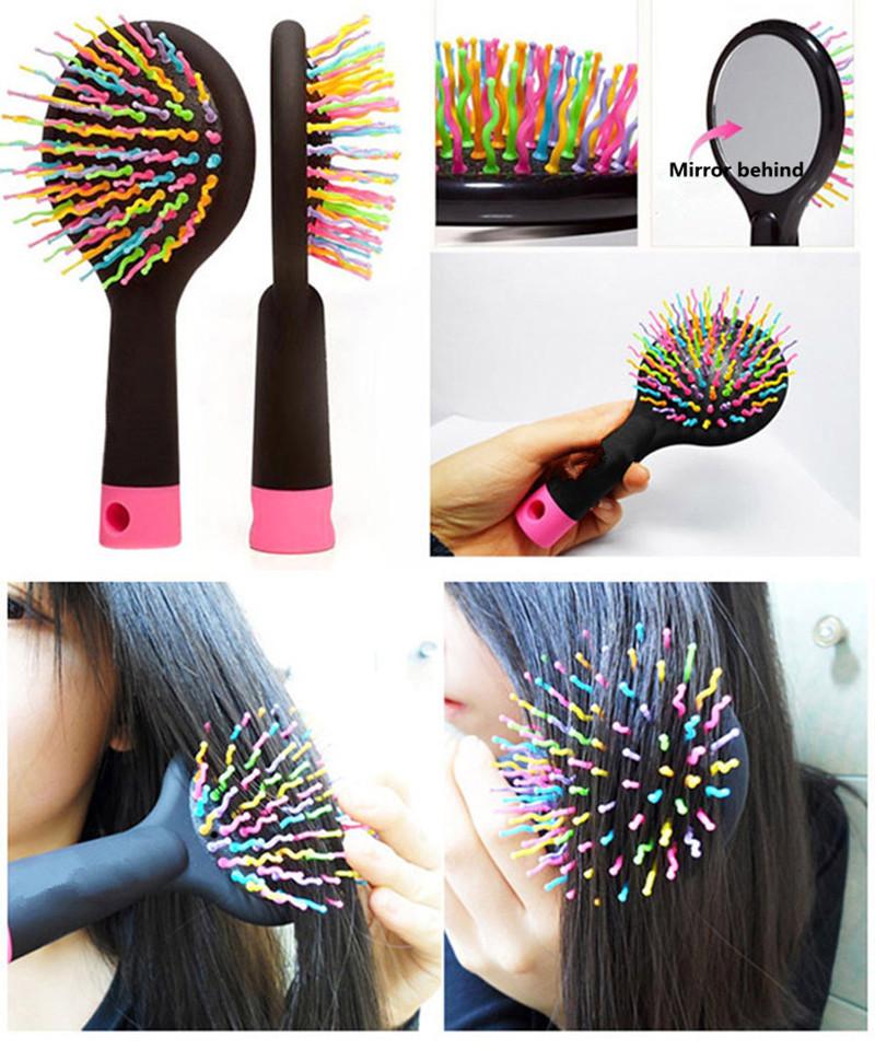 Professional Anti-static Brush Rainbow Massage Air Cushion Curl Comb