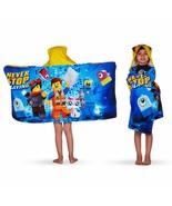"Franco Kids Bath and Beach Cotton Hooded Towel Wrap, 24"" x 50"", Lego Mov... - $28.99"