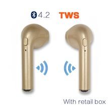 Portable wireless Subwoofer Stereo Bluetooth 4.2 TWS Headset Earphone He... - $48.56