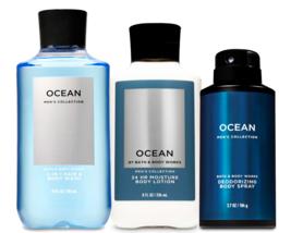 Bath & Body Works Ocean For Men Trilogy Body Set - $38.17