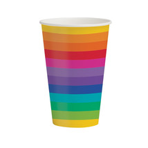 Rainbow 12 oz Hot/Cold Cups, Case of 96 - $54.94