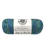 Soft and Shiny Ombre Yarn by Loops and Threads, Medium 4, Watercolor Wav... - $7.95