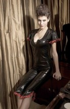Night Version Hot Women Genuine Leather Cocktail Party Casual Jumpsuit-JW42 - $220.00