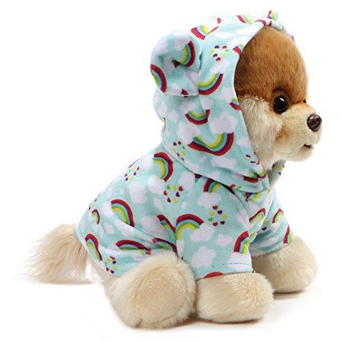 GUND World's Cutest Dog Boo Plush Rainbow Outfit Stuffed Animal (Rainbow)