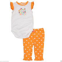 Carter's Baby Girl Flutter Sleeve 2-Piece Bodysuit  Set, Sz 12 Months - $14.84