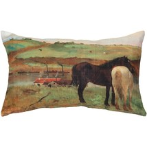 Pillow Decor - Edgar Degas Horses in a Meadow Throw Pillow - $34.95