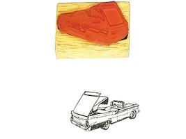Collector Car Rubber Stamps 1957 Lincoln Continental Sunliner Rubber Stamp image 1