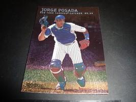 Jorge Posada 2000 Fleer Skybox Metal #78 Mint Baseball Card New York Yankees - $0.99