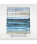 Shower curtains art shower curtain Sea View 266 blue ocean sea beach L.D... - $69.99
