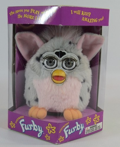 Furby 1998 Electronic pink gray Tiger Electronics interactive play H16