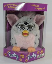 Furby 1998 Electronic pink gray Tiger Electronics interactive play H16 - $37.77
