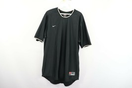 Vintage 90s Nike Mens Large Small Swoosh Logo Travis Scott Striped Soccer Jersey - $44.50