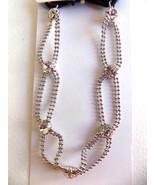 Scunci Silver Rhinestone & Oval Chain Link  Fashion Headband - $6.99