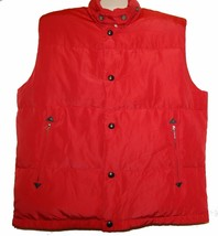 SAKS FIFTH AVENUE Red Men's Warm Duck Down Vest Size L NEW Retail- $230 - $118.39