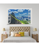 3D White Clouds Sky 09 Open Windows WallPaper Murals Wall Print AJ Jenny - $42.72+