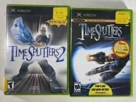 TimeSplitters 1 & 2 Original Microsoft Xbox Game Lot CIB Complete - $49.49