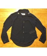 Abercrombie Kids Girl's Blue Sheer Long Sleeve Dress Shirt - Size: Small - $12.99