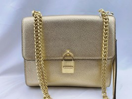 NWT Michael Kors Studio Mercer Large Messenger Crossbody Bag  Pale Gold  - $149.99