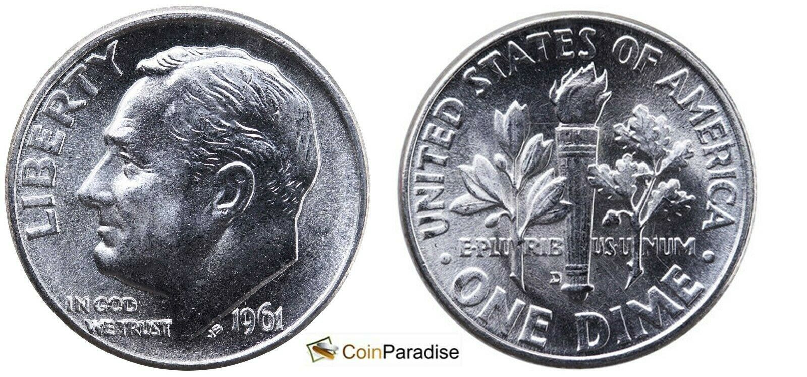 Primary image for 1961 D and 1962 D Silver Roosevelt 2 dimes included CP1660