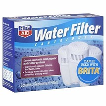 Rite Aid Water Filter Cartridges, 3 filters - $23.12
