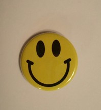 "(3) 1.25"" Handmade Magnet Button Yellow Smiley ... - $3.75"