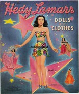 VINTAGE 1942 HEDY LAMARR PAPER DOLLS~TOTALLY UNCUT~#1 REPRODUCTION~BEAUT... - $17.50